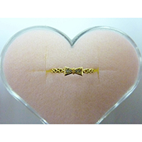 K18Y Gold Bow Ring with Diamond